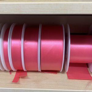 bright pink satin ribbon