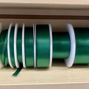 emerald green satin ribbon