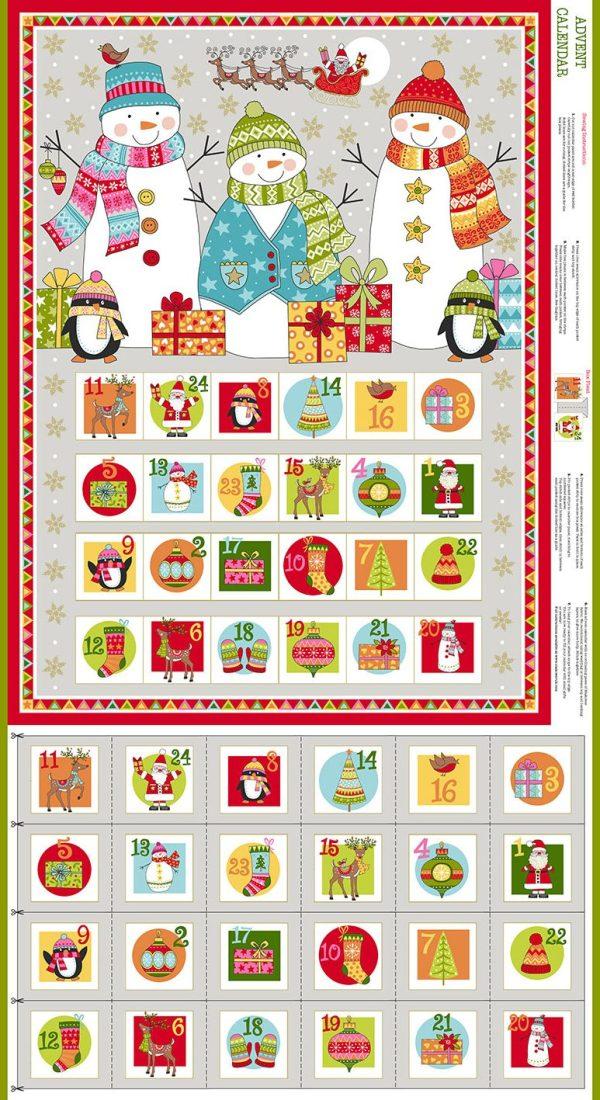 snowman print advent calendar