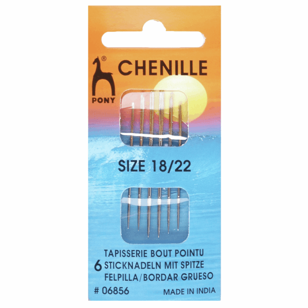 Hand Sewing Needles: Chenille: Gold Eye: Size 18-22