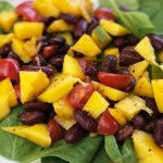 Thefabzilla Hawaii Vegan Food Blogger shares quick and refreshing mango bean salad recipe