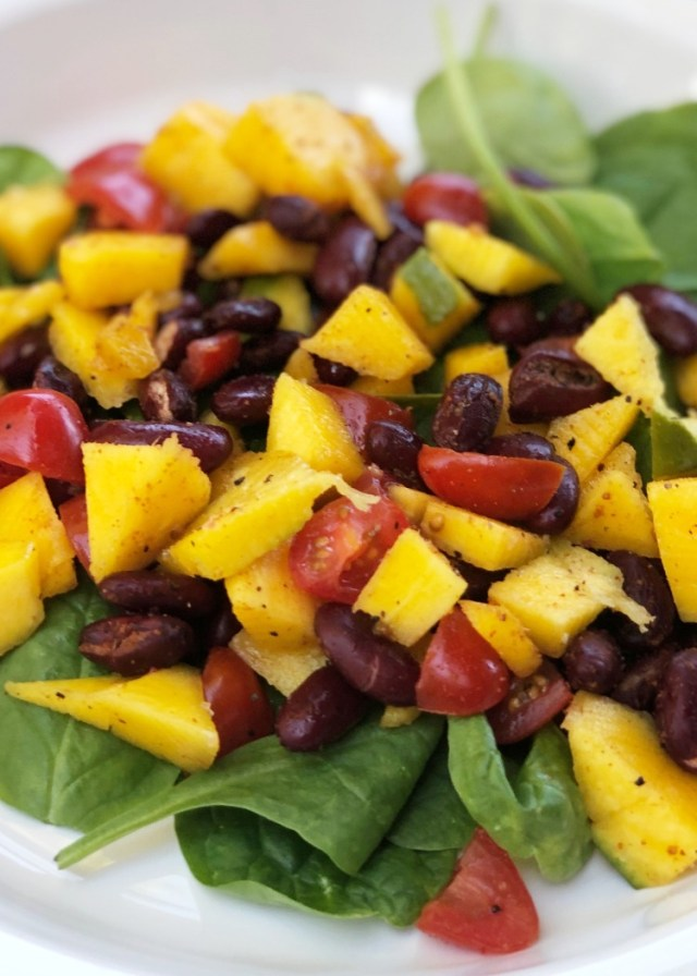 Thefabzilla Hawaii Vegan Food Blogger shares a refreshing mango bean salad recipe