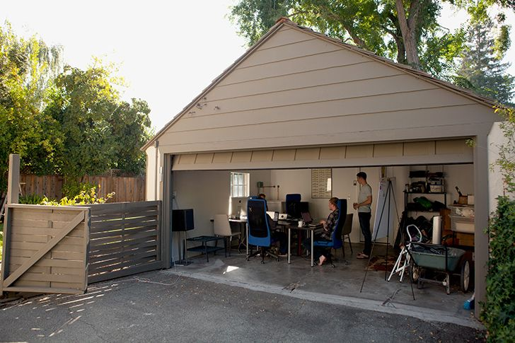Most of today's successful companies started in garages.