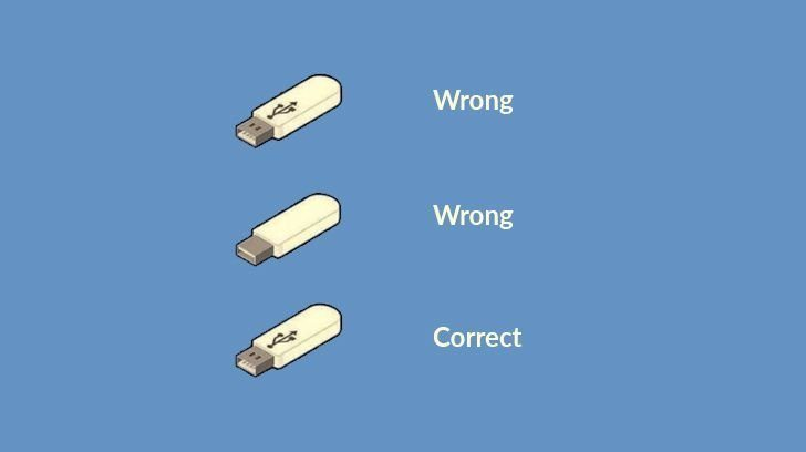 The majority of the people plug in their USB wrong.