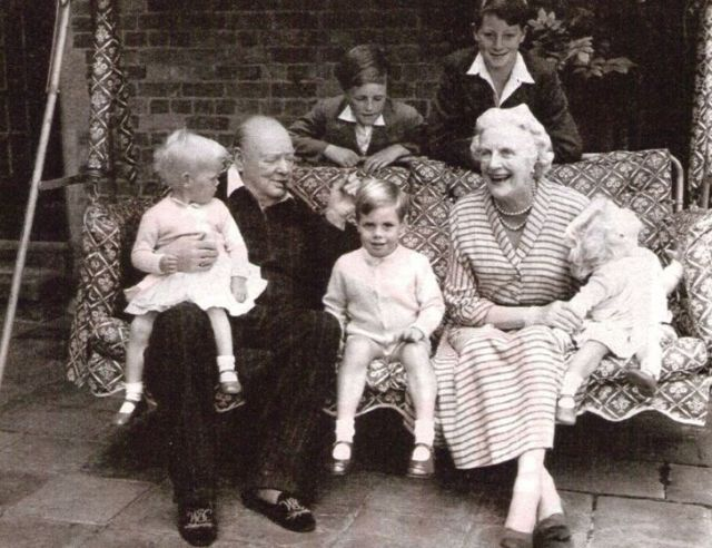 Winston Churchill family photo