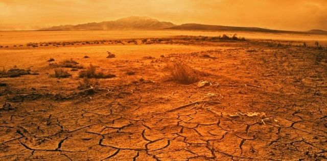 Soil erosion due to extreme high temperatures
