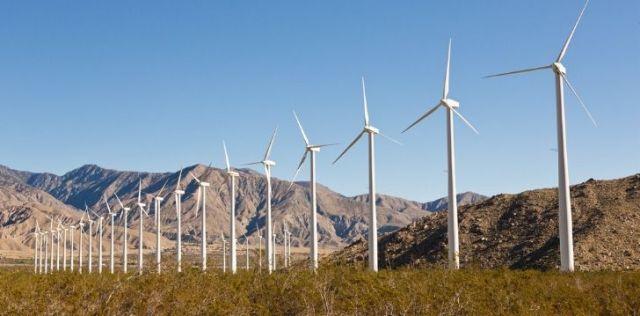 Wind turbines collecting renewable energy