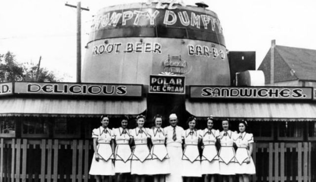 Humpty Dumpty Drive-in in the 1930's in Colorado