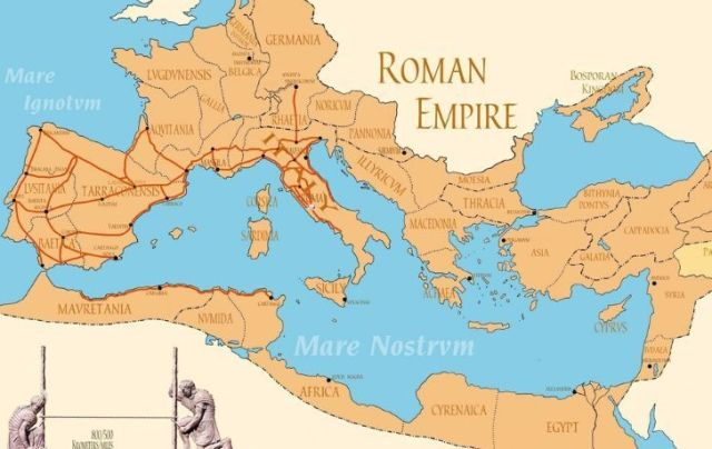A map of the entire Ancient Roman map.