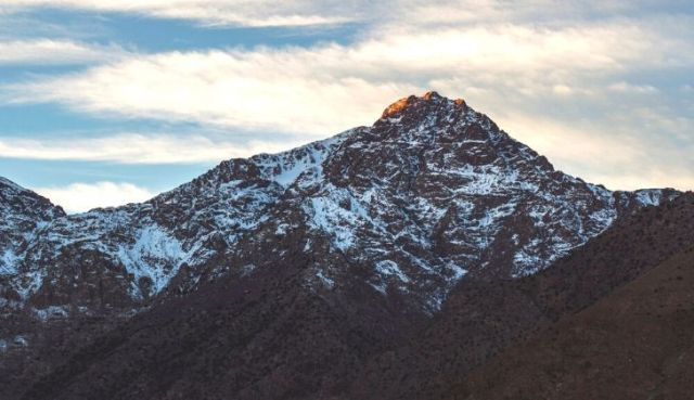 A picture of Jebel Toubkall - the highest point in Northern Africa.