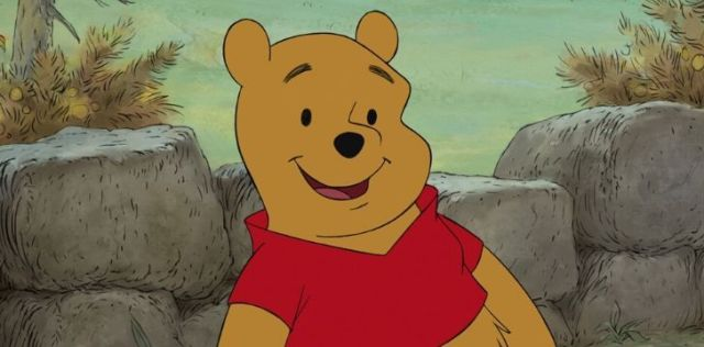 Winnie the Pooh smiling