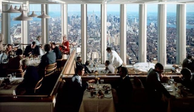 The Windows of the World restaurant that was at the Twin Towers