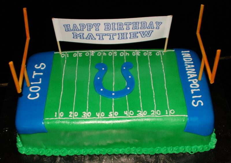 Colts Cheerleading Cake