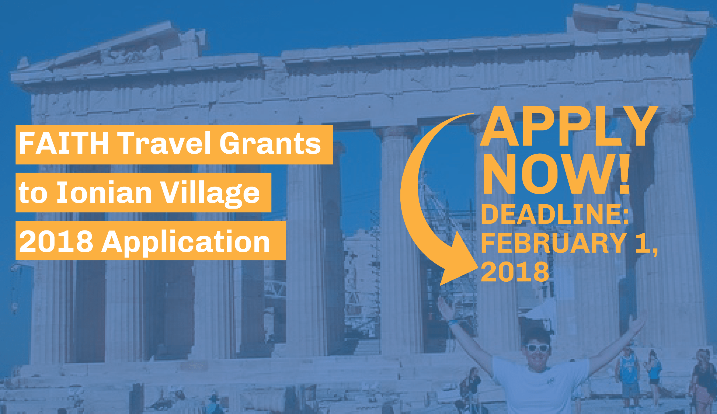 The 2018 FAITH Travel Grant to Ionian Village application is now available!