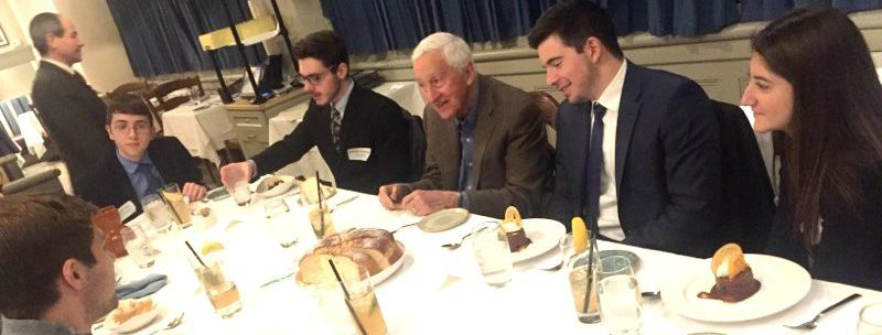 Founder Dr. P. Roy Vagelos hosts the second annual FAITH Scholars Luncheon in New York.