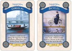 Worlds Fair transportation cards