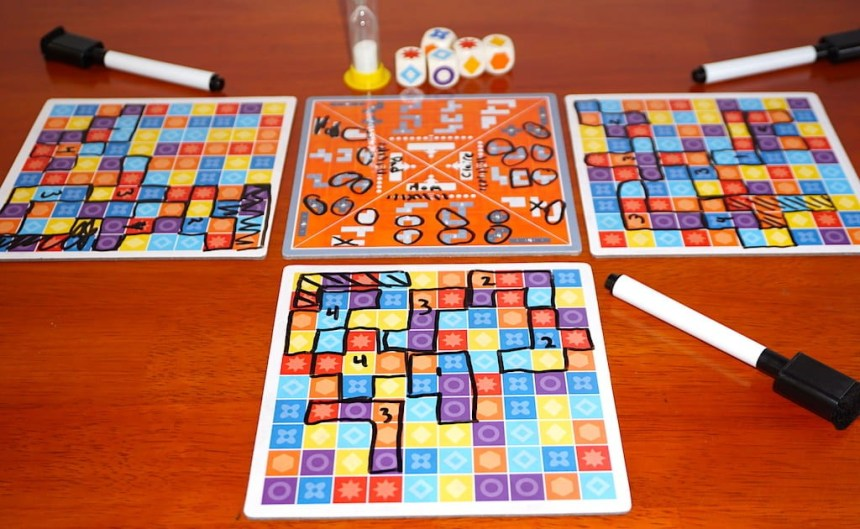 5er Finden puzzle mode with 3 players