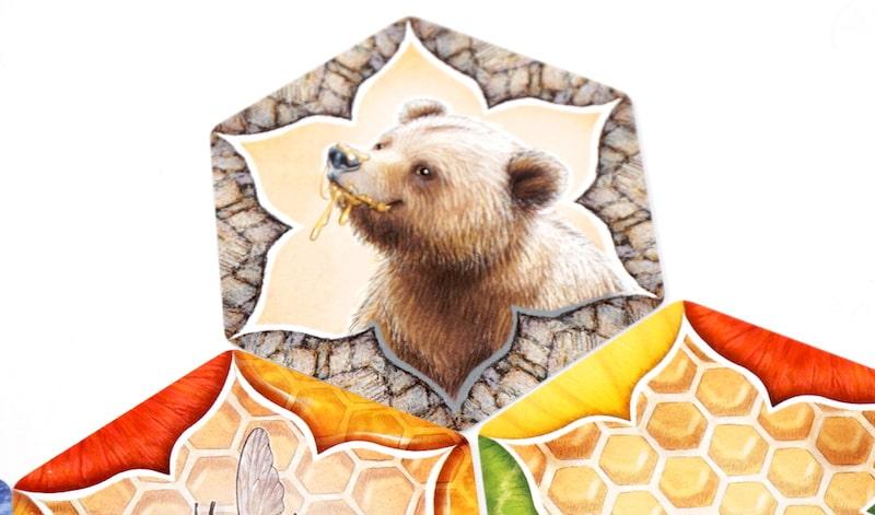 Bear hexagon card