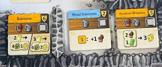 Caverna cave vs cave rooms: Bakehouse, Wood Storeroom, Furniture Workshop