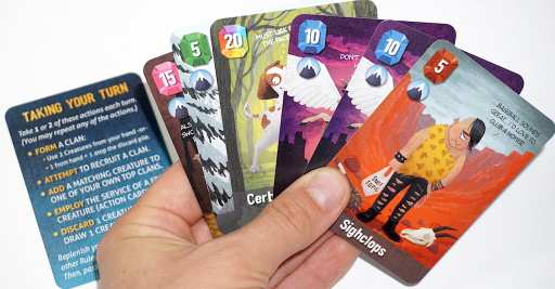 Hand of cards from Cover Your Kingdom game