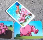 Clean That Pig card flips a pig card back over to the clean side.