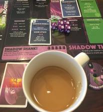 Dice Throne and coffee