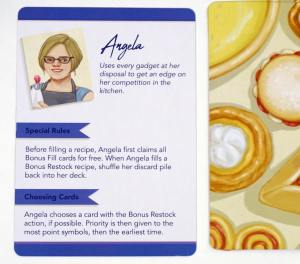 Filler game: Angela, automated chef who uses every gadget at her disposal to get an edge on her competition in the kitchen.
