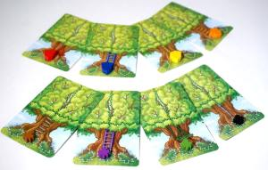 8 treehouse cards, each with a different colored marker