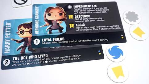 Harry Potter and Hermione Granger character cards from the Funkoverse game
