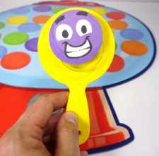 Excited face on gumball grabber