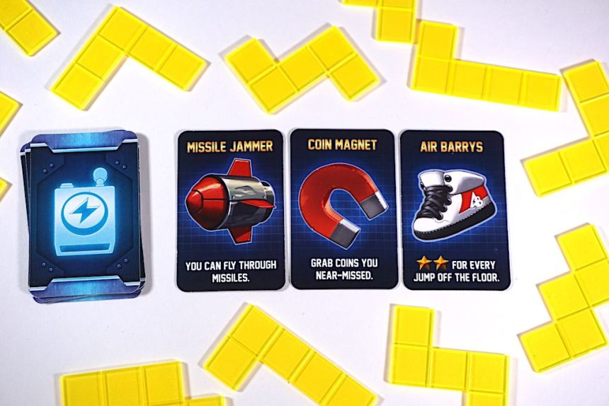 Gadgets: Missle Jammer, Coin Magnet, Air Barrys