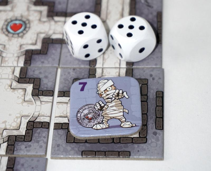 Mummy - strength 7; dice show 10