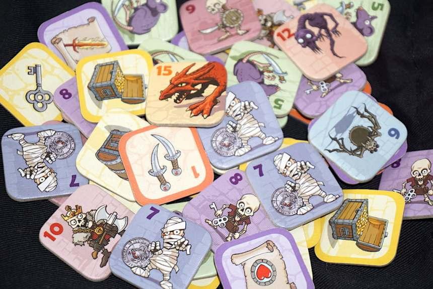 Karak monster and treasure tiles