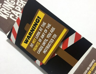 Warning! Do not look at the fronts of any of the cards until you are instructed to.