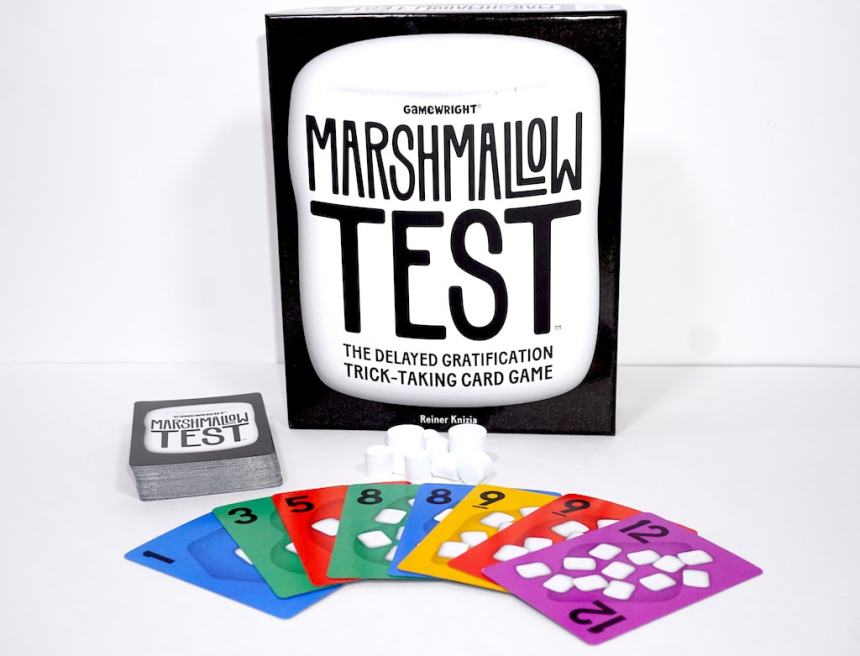 Marshmallow Test - the delayed gratification trick-taking card game