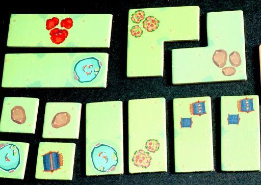 tiles: 3-unit lines, 3-unit L shapes, 2-unit lines, and 1-unit squares.