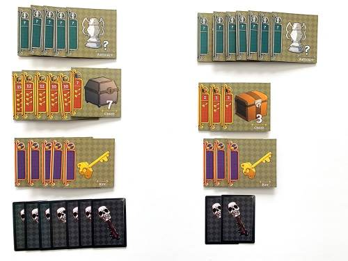 Sky Castle scoring - artifacts, chests, keys, skeleton keys