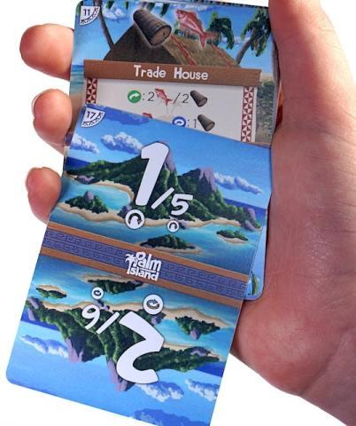 Palm Island round tracker card