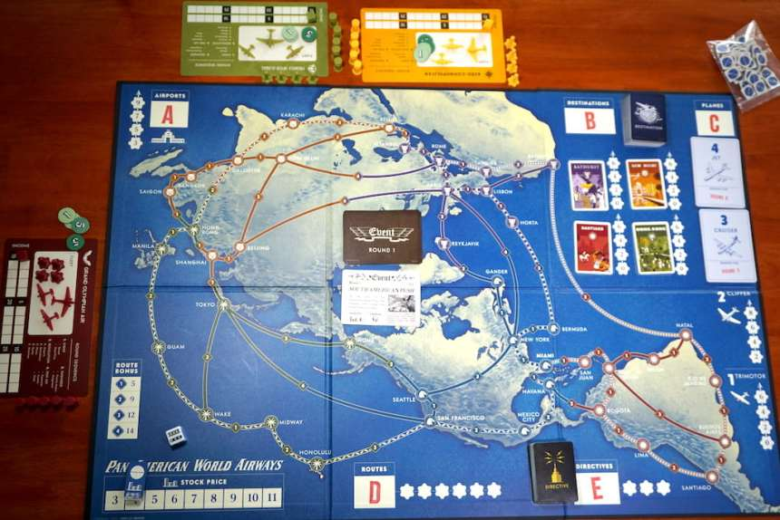 Pan Am game board