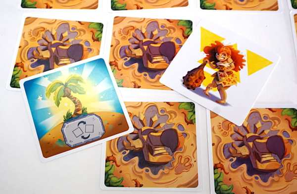 Mirage card and yellow cave dweller