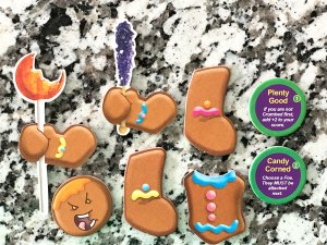 Cookie pieces from Roll for your Life Candyman: 2 arms, 2 legs, 1 head, 1 torso, 2 special treat tokens