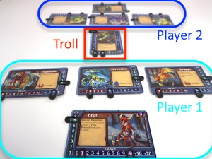 Rage of the Trolls Two Player Setup