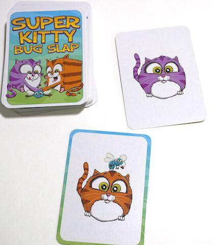 Super Kitty Bug Slap - orange round cat matches purple round cat