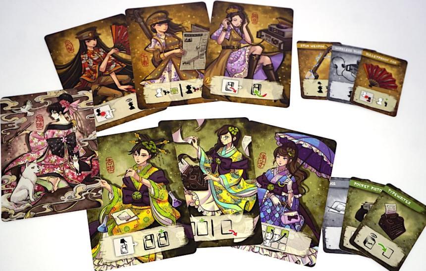 Geisha and equipment cards