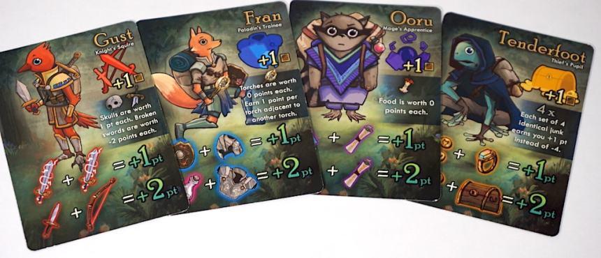 Squires: Gust, Fran, Ooru, Tenderfoot