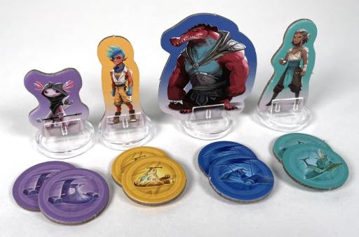 Tidal Blades characters and action disks