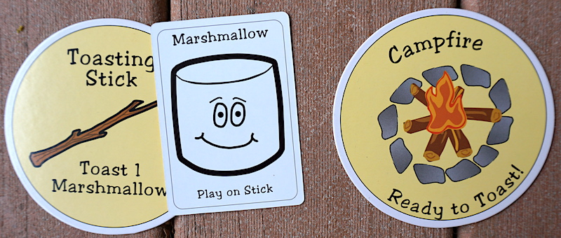 Toasted or Roasted: Marshmallow, Toasting Stick, and Campfire