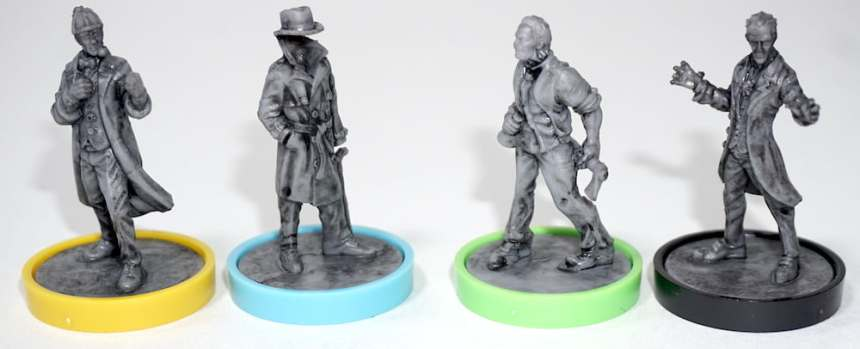 Unmatched minis: Sherlock, Invisible Man, Jekyll/Hyde, and Dracula