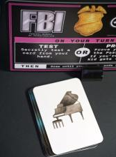 FBI card and piano card