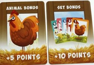 animal bonus and set bonus cards